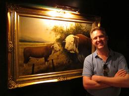 He loves cows., Jeff - October 2010