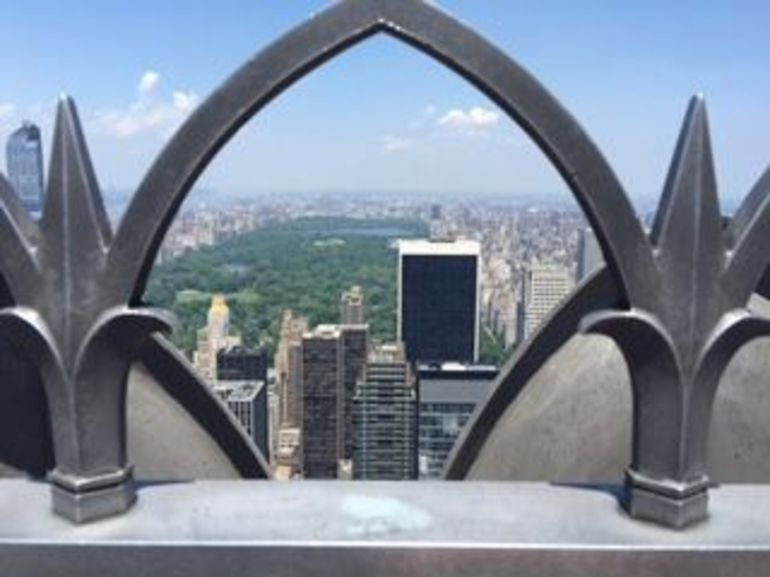 Overlooking Central Park from the Top of the Rock