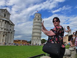 I am holding up the Leaning Tower of Pisa and someone is holding up me. , novicetraveller - August 2011