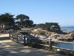 This walkway in Pacific Grove is a good spot for watching seals., Undercover Américan - October 2010