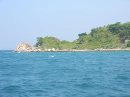 Pattaya Beach shot from our speedboat , Siladitya R - January 2011