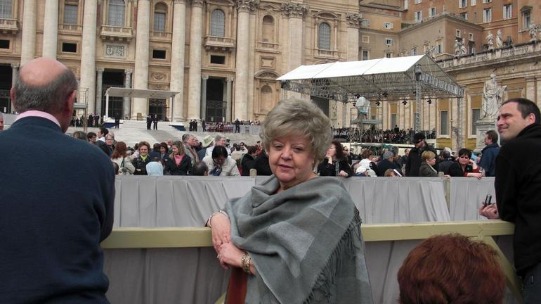 Perfect spot to see Pope Benedict. - Rome