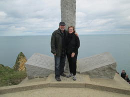 Brenda and Bob from Largo, Florida, USA. Our trip to the Normandy Battlefields was a lifetime experience. , Robert S - April 2014