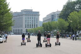 Our group of six people on our way to Pennsylvania Avenue after seeing The White House. , Amitabha - August 2012