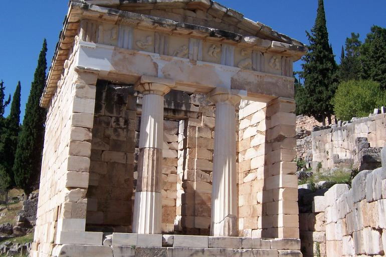 Temple of Apollo ~ Athenian Treasury ~ Temple of Athena ~ Theatre of Delphi (30) - Athens