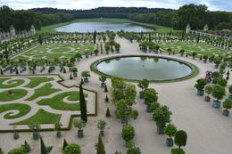 Photo of Paris Versailles Guided Tour with Optional Fountain Show The gardens from above near the palace.