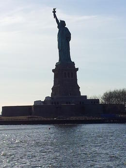 The Statue of Liberty whilst on the river Hudson. , Teenie - February 2013