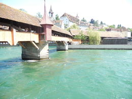 Photo of Zurich Day Trip from Zurich to Lucerne and Stanserhorn Including Funicular Railway, Aerial Cable Car and Train Ride Wooden Bridge in Lucerne