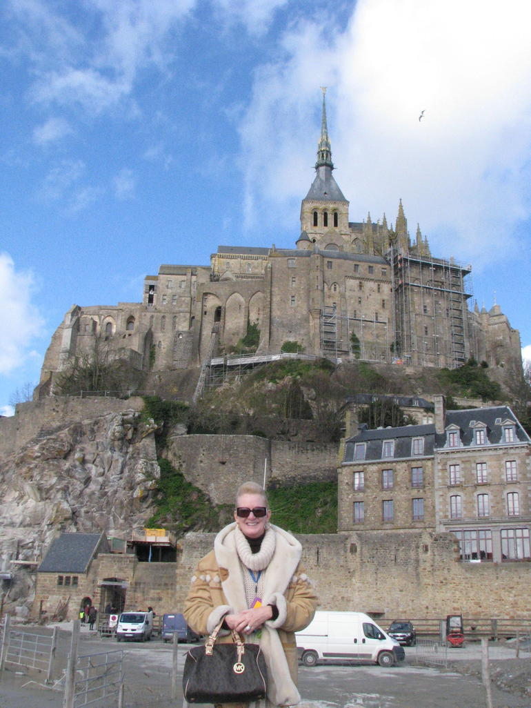 Debbie at Mont Saint Michel - Paris