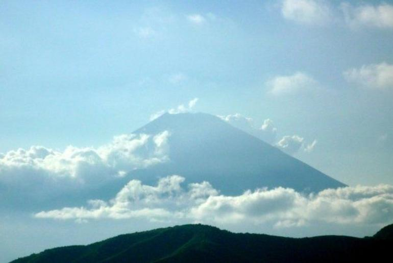 Glimpse of Mount Fuji from the Ropeway - Tokyo