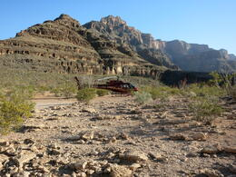After landing in the Grand Canyon for our champagne picnic. , Holly - May 2013