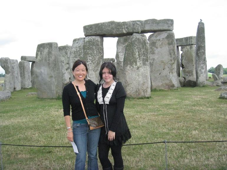 My Daughter and I at Stonehenge - London