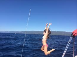 Jumping into Lake Tahoe - September 2014
