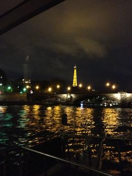 Another shot at night on the boat looking out at La Seine , Melissa Q - September 2013