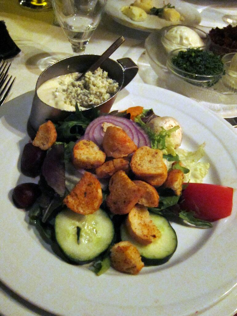 This is the best salad ever. Blue Cheese Dressing! - Las Vegas