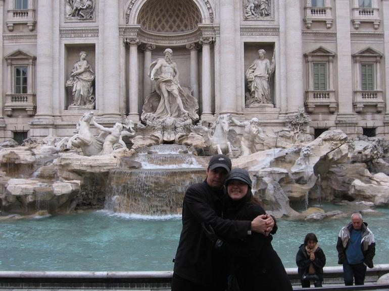 Adam and Kylie enjoying the long awaited Trevi Fountain.