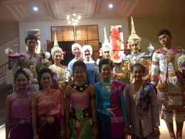 Photo of Bangkok Bangkok Cabaret Show Us with Thai dancers before show