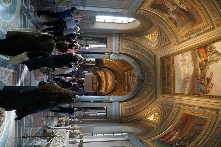 Even late in the season quite busy, can only imagine the crowds earlier, one of the most amazing collections of centuries of different cultures from the ancient world. The collection of Paintings by Raphael is amongst the best in the world.