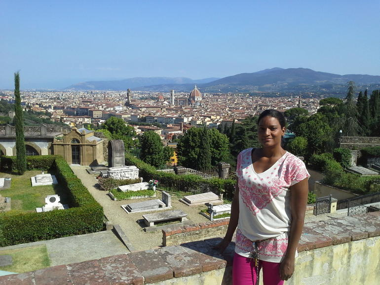 Vespa tour -view from San Miniato - Florence