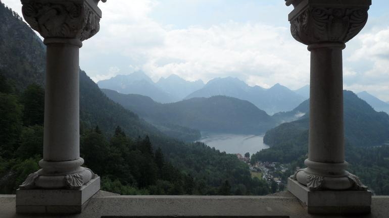 View from Neuschwanstein windows - Munich
