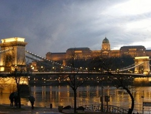 Chain Bridge Budapest at Night