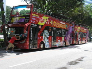 Open top bus tours in Singapore