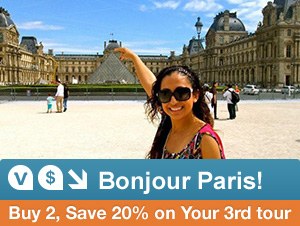Buy 2 Paris Tours, Save 20% on your 3rd