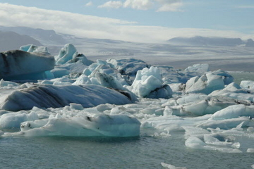 Jokulsarlon Glacial Lagoon on Iceland's South Coast