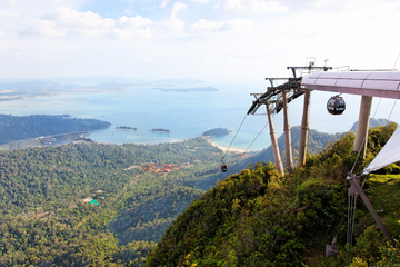 Taking the Langkawi Cable Car