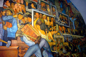 Mural diego rivera tours trips tickets acapulco for Diego rivera first mural