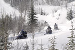 Guided snowmobile tour from downtown Quebec