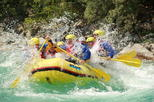 Rafting experience on the emerald Soca river