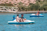 1 Hour electric pedal boat rental (for 2 adults and 2 small kids under 50lbs)