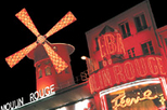 Paris : illuminations de nuit et spectacle au Moulin Rouge