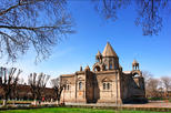 Echmiadzin Mother Cathedral - Hripsime Church - Gayane Church and Zvartnots Temple from Yerevan