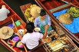 Floating Markets and Rose Garden Cultural Center Day Tour from Bangkok, Bangkok,