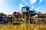 Tonle Sap Lake and Kampong Phluk Private Half Day tour from Siem Reap