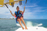Parasailing Experience over the Manama Coastline in Bahrain