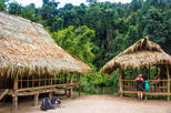 Elephant experience and trekking to villages and waterfalls from Luang Prabang full day tour