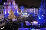 Festive Ljubljana by Night from Bled