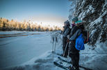 Backcountry skiing adventure