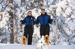 Snowshoe Trip for Ice Fishing in Ivalo