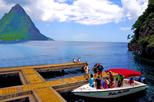 28' Speedboat Pitons Tour with Mud Bath, Snorkeling, Waterfall