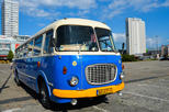 Warsaw city sightseeing in a retro bus for groups in warsaw 386912