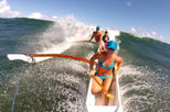 St Martin Canoe Surfing at Le Galion Beach