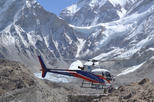 Landing Everest base camp by Helicopter