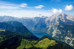 Eagle's Nest, Berchtesgaden, Golling Waterfalls and emerald green Lake Fuschl
