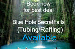 Blue Hole Falls and (Tubing or rafting)  Jamaica shore Excursions and tours