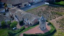 Panoramic helicopter tour of the wine route in Southern Burgundy and the Beaujolais, Mâcon, ...