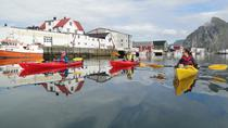 Kayaking Along the Coast of Lofoten islands, Norway